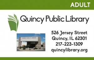 photo of QPL's adult library card